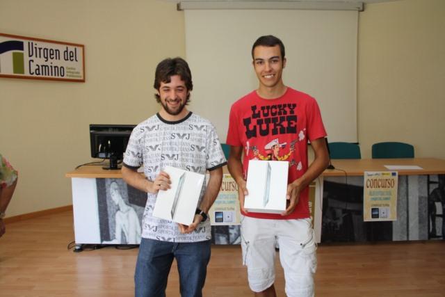 Los alumnos premiados han sido David Jiménez González de primero de Grado Medio de Instalaciones Electrotécnicas y Automatizadas y Carlos García Labarga de primero de Grado Superior de Sistemas Electrotécnicos y Automatizados.