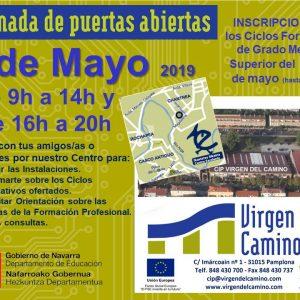 Jornada de Puertas Abiertas + Inscripciones a Ciclos Formativos de GM y GS