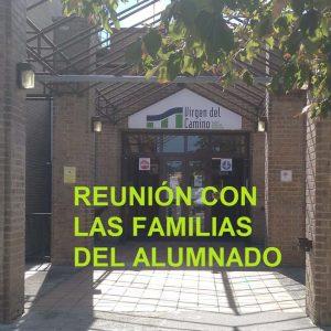 Reunión con las Familias curso 2020-2021