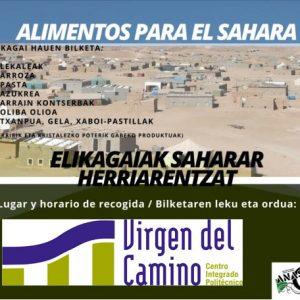 Recogida de alimentos para el SAHARA